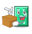 with box rectangle character cartoon style vector image