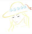 woman in hat colorful vector image vector image