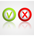 yes and no buttons vector image
