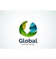 Globe with arrow logo template vector image