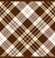 check brown beige textile seamless pattern vector image