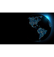 Dotted world globe vector image