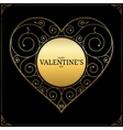 Valentines Day heart love symbol sign or logo vector image
