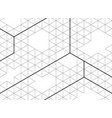 abstract hexagon outlines black color of modern vector image