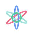 atom icon - molecule chemistry science symbol vector image