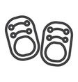 baby shoes line icon footwear and fashion vector image vector image