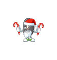 black beans cartoon character in santa claus with vector image vector image