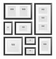 black frames realistic set vector image
