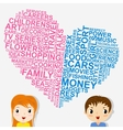 Boys and girls thoughts vector image vector image