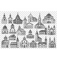buildings hand drawn doodle set vector image vector image