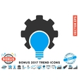 Bulb Configuration Gear Flat Icon With 2017 Bonus vector image