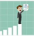 businessman or manager has a plan job is finished vector image vector image
