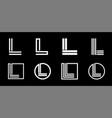 capital letter l modern set for monograms logos vector image vector image