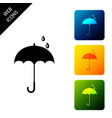 classic elegant opened umbrella icon isolated on vector image