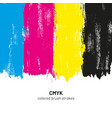 cmyk colored brush strokes vector image vector image