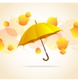 Colored leafs and umbrella background vector image vector image