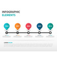 colorful roadmap business timeline infographics vector image