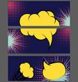 comic balloon horizontal lilac banner vector image vector image