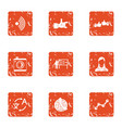 comprehensive icons set grunge style vector image vector image