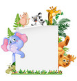 cute animal paper template vector image