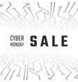 cyber monday sale technology banner cyber monday vector image vector image