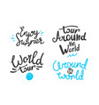 different lettering logos isolated on white vector image vector image