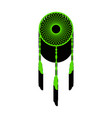 dream catcher sign green 3d icon with vector image vector image