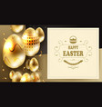 easter composition with the silhouette of eggs of vector image vector image