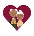elderly couple design vector image vector image
