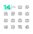 email - set line design style icons vector image vector image