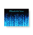 festive brochure with neon light vector image vector image