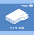file folders icon isometric template vector image vector image