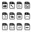 File type black icons - graphic and web design vector image vector image