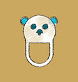 flat shading style icon teddy bear bib vector image vector image