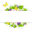 Flowers With Paper vector image