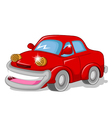 funny red car for you design vector image vector image