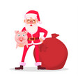 funny santa claus in glasses vector image vector image
