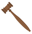 gavel judge auction wooden hammer icon vector image
