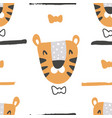gentleman tiger pattern vector image