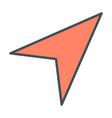 gps navigation arrow line icon vector image vector image