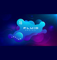 gradient fluid blue purple color abstract vector image