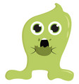green monster eating cookie or color vector image vector image