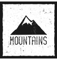 hand drawn mountain poster wilderness old style vector image vector image