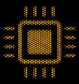 hexagon halftone processor icon vector image vector image