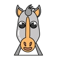 horse animal farm isolated icon vector image