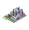 industrial factory built a concept vector image vector image