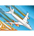Isometric airplane falling down with engines on vector image vector image