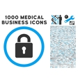 Lock Keyhole Icon with 1000 Medical Business vector image