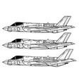 lockheed martin f-35 lightning ii vector image vector image