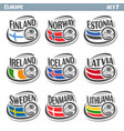 logo for european football ball flag vector image vector image